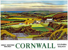 TU81 Vintage GWR Cornwall Southern Railway Travel Poster Re-Print A2 A3