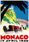 AV33 Vintage 1932 Monaco Grand Prix Motor Racing Advertisment Poster A1 A2 A3