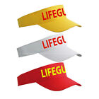 LIFE GUARD YELLOW RED WHITE SUN VISOR LIFEGUARD SUNVISOR SPORTS CAP HAT  LG064