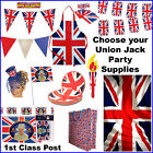 Union Jack Bunting Flags Diamond Jubilee Olympics Street Party Flag Tableware