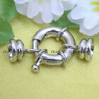 White Gold Plated Spring Ring Jewelry Clasp