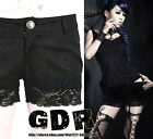 FreeShip X PUNK SEXY KERA LACE CORSET TOP K135 SHORT PANTS S-XXL