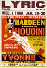 M49 Vintage Hardeen Houdini Magic Theatre Poster Re-Print A4