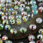 Bulk Mix-color Faceted Murano Lampwork Glass Stripes Loose Spacer Beads Findings
