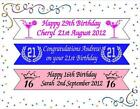 16th 18th 21st & ALL OTHER AGES BIRTHDAY BANNER PERSONALISED