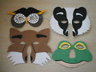 SOFT FOAM WILDLIFE MASKS **OWL**FOX**BADGER**FROG** PARTY GAMES**PARTY BAGS **