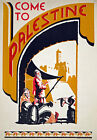 TW60 Vintage 1938 Come To Palestine Travel Poster Re-Print A1/A2/A3