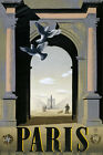 T97 Vintage French Paris France Travel Poster Re-Print A4