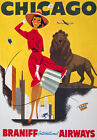 TX39 Vintage 1950's Chicago America Travel Poster Re-Print A1/A2/A3