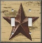 Light Switch Plate Cover - Country Primitive Home Decor - Aged Barn Star