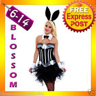 G38 Ladies Black White Easter Bunny Rabbit Fancy Dress Costume Ears Cuffs & Tutu