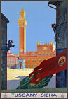 TR5 Vintage Italian Tuscany Siena Italy Travel Poster Re-Print A4