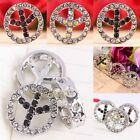 Austrian Crystal 16mm Peace Sign Anti-war No-war Heart Hole Spacer Beads Finding