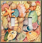 Light Switch Plate Cover - Beach Decor - Colorful Beach Sea Shells