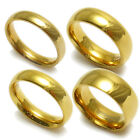 14K Gold over Stainless Steel Plain Wedding Band Ring