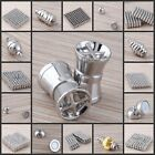 Wholesale Lots 26 Type Oval Round Ball Silver Plated Magnetic Clasps Connectors