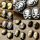 Vintage Cameo Resin Cabochons Skull and Cross Bone Head Statue Flowers Wholesale