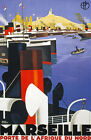 TW67 Vintage 1930 Marseille Classic French Travel Poster Broders Re-Print A4
