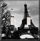 Light Switch Plate Cover - Black And White Eiffel Tower - Paris Home Decor