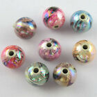 Random Mixed Acrylic Plastic DIY Smooth Round Ball Spacer Beads 8mm 12mm