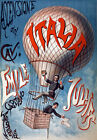 M6 Vintage Italian Balloonist Circus Poster A1 A2 A3
