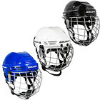 NEW BAUER ICE HOCKEY 2100 COMBO HELMET SENIOR WHITE BLACK WITH CAGE SKATING