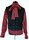 Brown & Black needle cord double breasted Waistcoat Goth Steampunk Victorian NEW