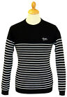 MENS RETRO MOD SIXTIES STRIPED STRIPEY BRETON Bretton SWEATER/JUMPER 70s Black