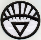 """3.5"""" White Lantern Corps Classic Style Embroidered Iron-on Patch"""