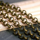 10ft Antique Bronze Plated Round Link Rolo Chains 3.8mm c209 PICK