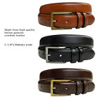 "Mens Genuine Cowhide Oil-Tanned Leather Dress Casual Belt, 1-1/8"" Wide"