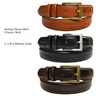 "New Men's Brown Genuine Cowhide Oil-Tanned Leather Dress Casual Belt 1-1/8"" Wide"