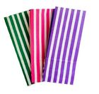 10 CANDY STRIPE PAPER PICK N MIX SWEET GIFT PARTY BAGS ~ 10cm x 24cm - BIRTHDAY