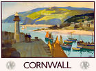TU80 Vintage GWR Cornwall Great Western Railway Travel Poster Re-Print A4