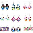 Colorful Summer Handmade CZ Fimo Beads Dangle Earrings Fashion Jewery