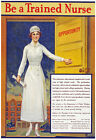 W21 Vintage WWI Be A Trained Nurse World War Medical Poster Re-Print WW1 A4
