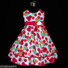 HP3118A Toddler HT Pink Christmas Party Girls Dress Outfit SZ 2,3,4,5,6,7,8,9,10