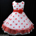 R1525 Kid Girl Red Christmas Wedding Flower Girls Pageant Dress SZ 3-4-5-6-7-8-9