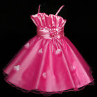 HP5299 Kid Girl Pink X'mas Bridal Party Flower Girls Dress SZ 2-3-4-5-6-7-8-9-10