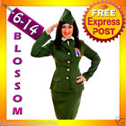 G78 Military FBI Army Soldier Uniform Fancy Dress Party Halloween Costume & Hat