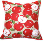 AL41a Red Green Beige Apple Cotton Canvas Cushion Cover/Pillow Case*Custom Size*
