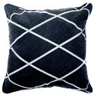 UL24a Off White Diamond on Black Velvet Style Cushion Cover/Pillow Case Custom