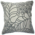 UF172a Light Gray Leaf Beige Velvet Style Cushion Cover/Pillow Case Custom Size