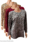 NEW CASAMIA DEVORE TUNIC ~ TOP IN GREY, RED, COPPER BEIGE & RUST BROWN 12 14 16