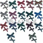 7mm or 10mm Handmade Tartan Ribbon Bows - Choose Tartan, Ribbon Width, Pack Size