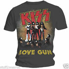 KISS LOVE GUN Official T Shirt Grey Gene Simmons All Sizes S M L XL XXL 4028