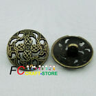 Antique Magic Floral 20mm Metal Buttons Sewing Collectable Craft MB007