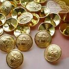 Gold Heraldic 20mm Metal Buttons Sewing Collectable Craft MB002