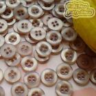 Brown 4 Holes 11mm Shirt Plastic Buttons Sewing Craft 4SB