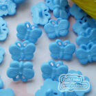 Blue Butterfly 17mm Plastic Buttons Sewing Scrapbooking Collectable Craft BFB